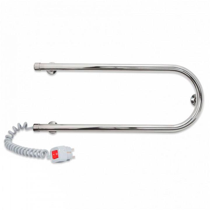 Полотенцесушитель электрический П-образный змеевик Laris 25 ПС1 500х200 хром левое подключение