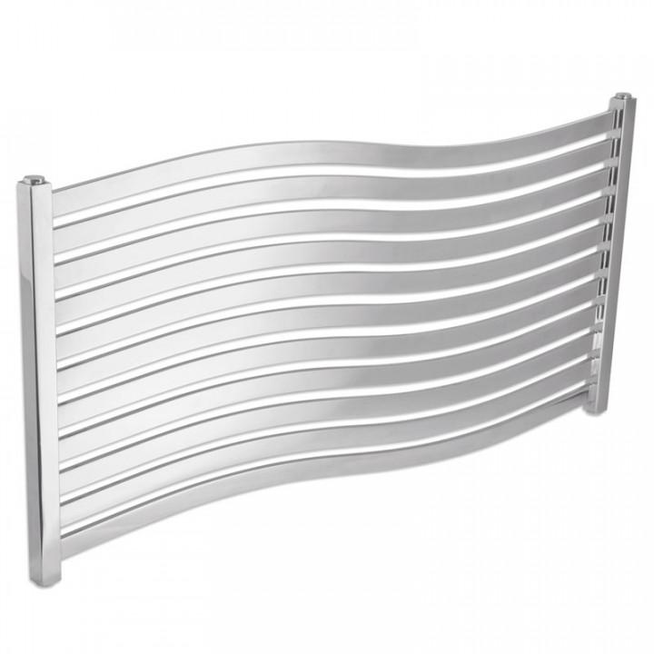 Дизайнерский водяной полотенцесушитель Laris Серфинг П11 1000х500 хром из нержавеющей стали