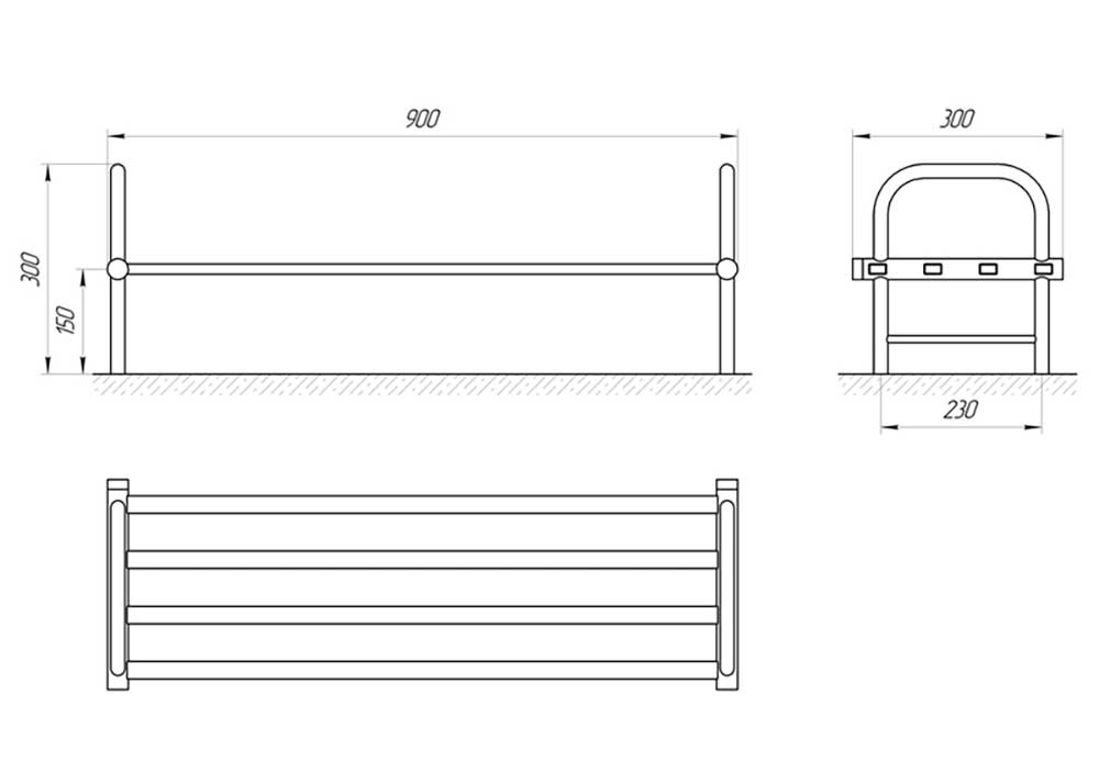 Схема - Сушилка для обуви Laris Кватро П4 300x900 Э